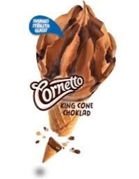 Cornetto King Cone Choklad - bäst i test bland Glass med olika smaker 2020
