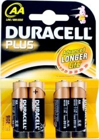 Duracell Plus AA test