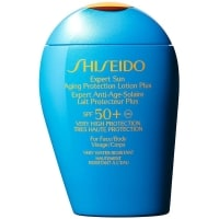 Shiseido Expert Sun Protection Lotion Wet Force test