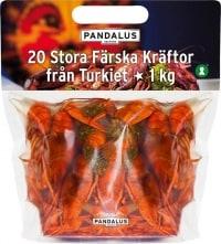 Pandalus Färska Turkiska Kräftor test