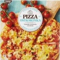 Coop Pizza Ost & Skinka Stenugnsbakad test