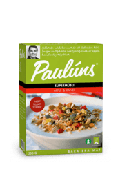 Paulúns Müsli Kanel/Äpple - bäst i test bland Müsli 2017