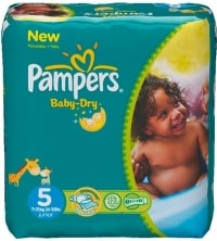Pampers Baby Dry test